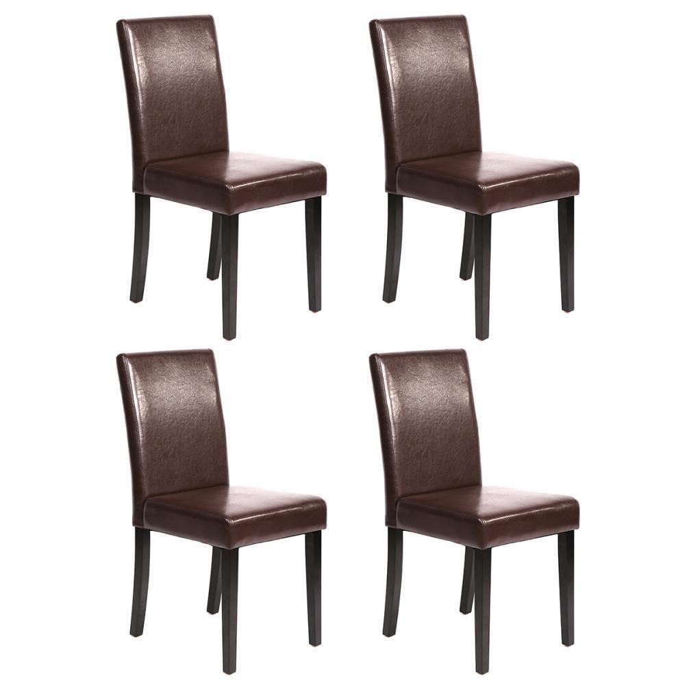 Details About Set Of 2 4 6 8 10 Pcs Black Brown Leather Elegant