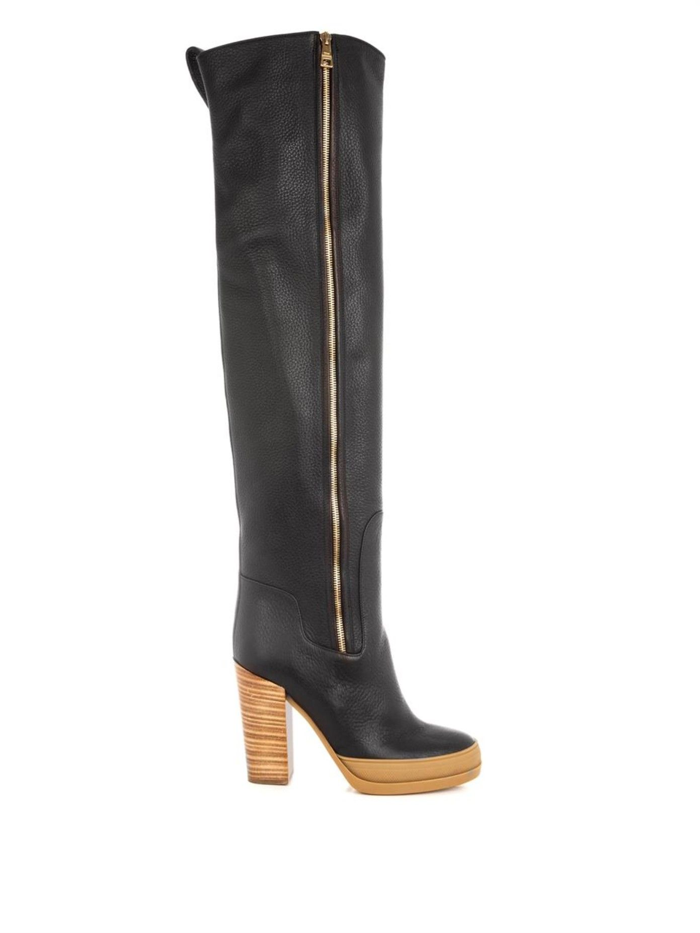 Over-the-knee leather boots Chloé vfuKEgtAFT
