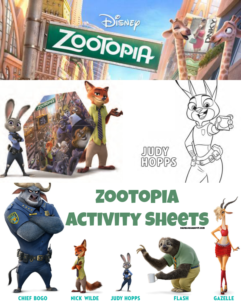 Get your printers ready and print these kidfriendly zootopia