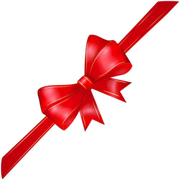 Red Corner Bow Transparent PNG Image Free clip art, Bow