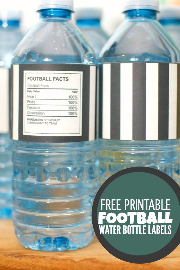 Free Printable Football Water Bottle Labels … | Football ...
