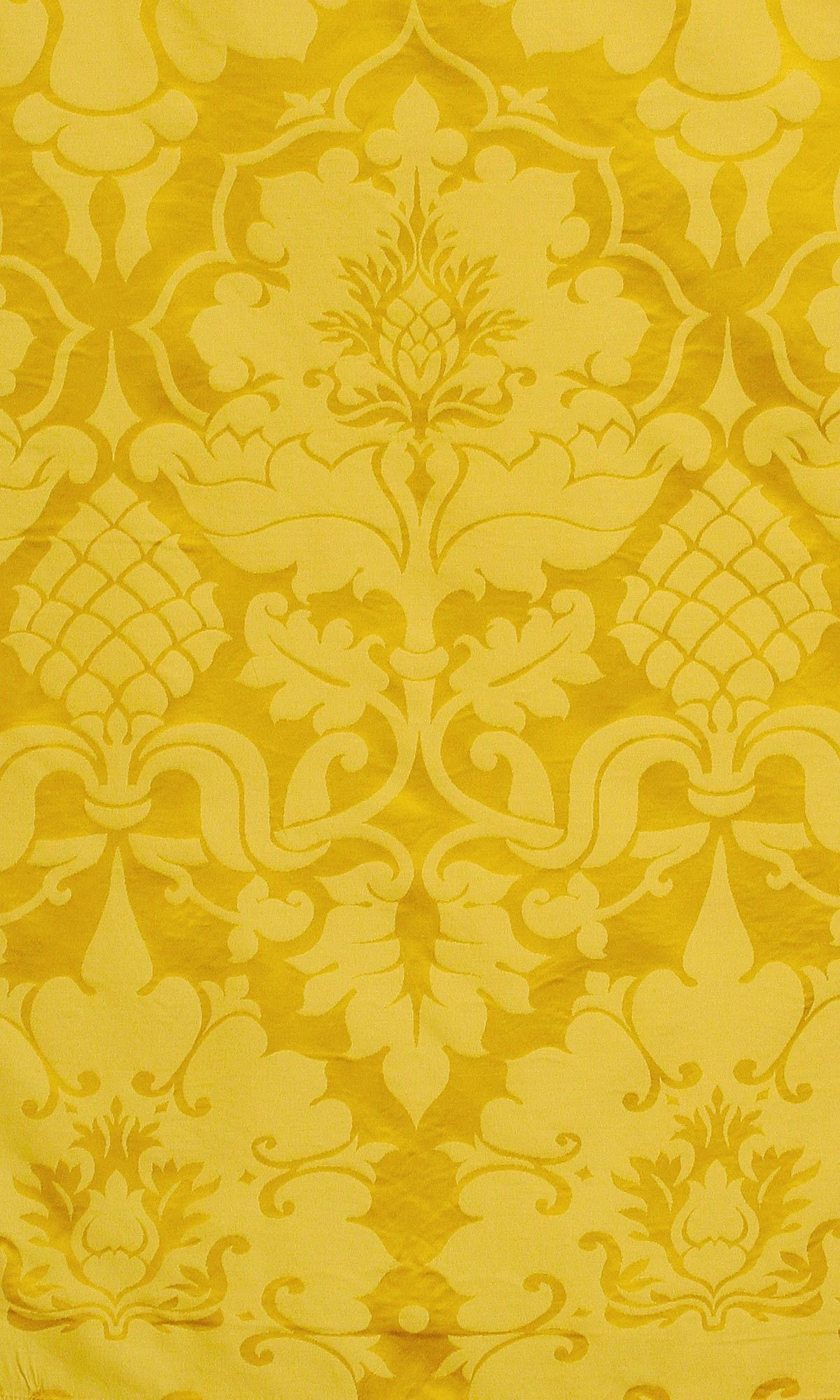 Bellini Imperial Yellow Damask Yellow wallpaper, Mustard
