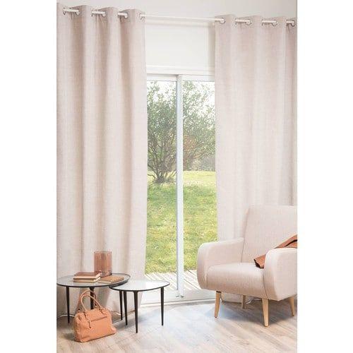 James Herringbone Curtain 140 X 270 Cm Maison Du Monde Meuble Salle A Manger Rideaux Oeillets