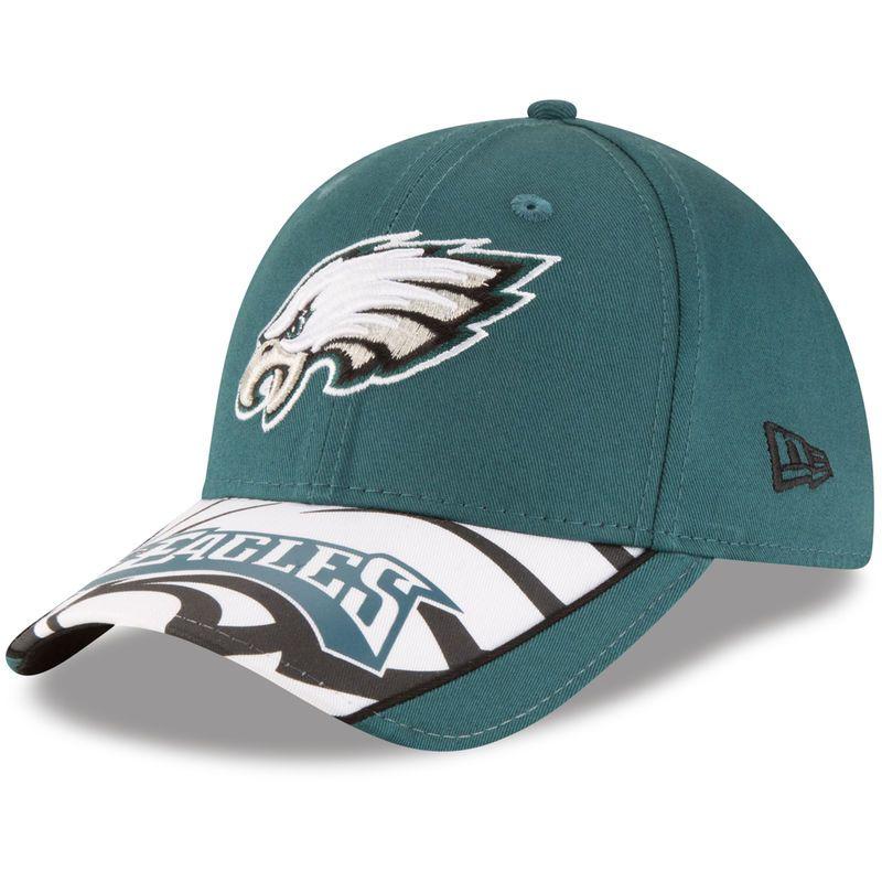 Philadelphia Eagles New Era Youth Logo Scramble 9FORTY Adjustable Hat - Midnight Green