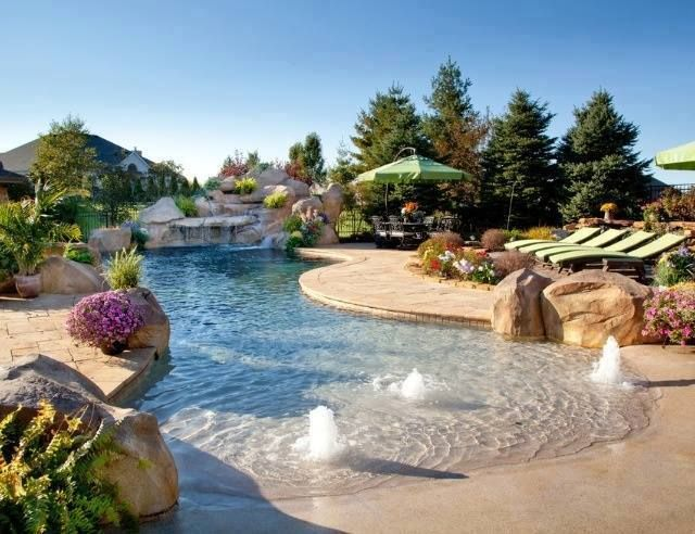 Divine Beach Entry Pool Design Ideas For Heaven In Your Garden