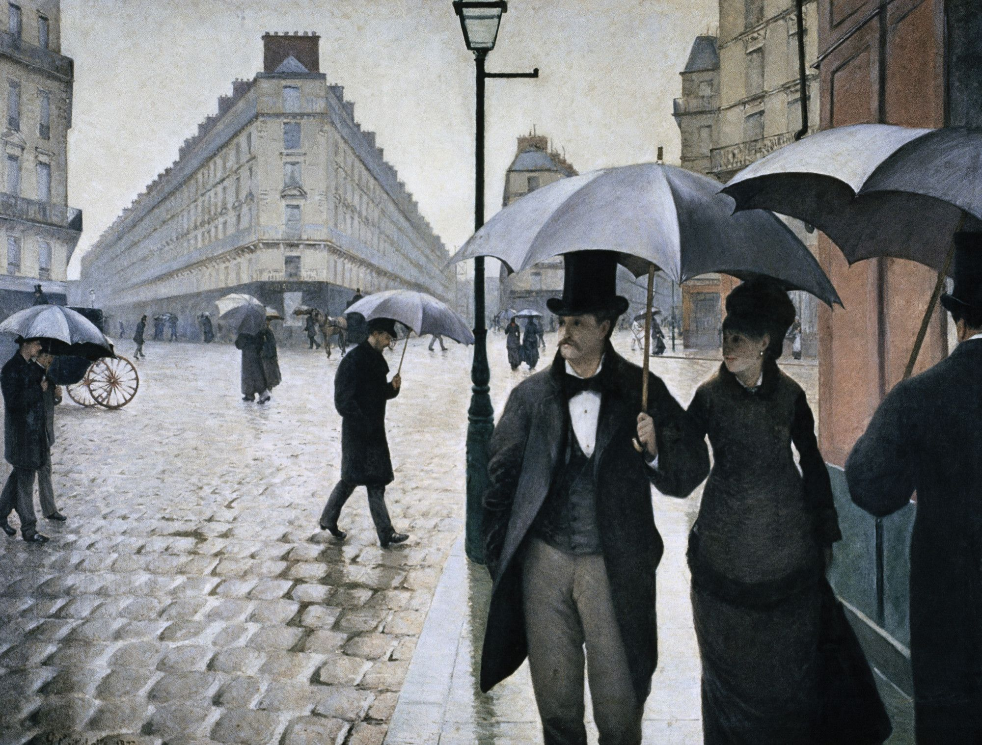 Gustave Caillebotte Paris Street Rainy Day 1877 Oil On Canvas