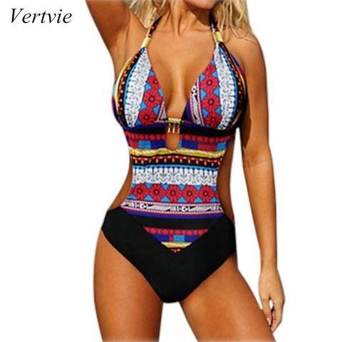 977471c939 Womens Sexy One Piece Swimsuit Bathing Suit Beach Plus Size Halter Monokini