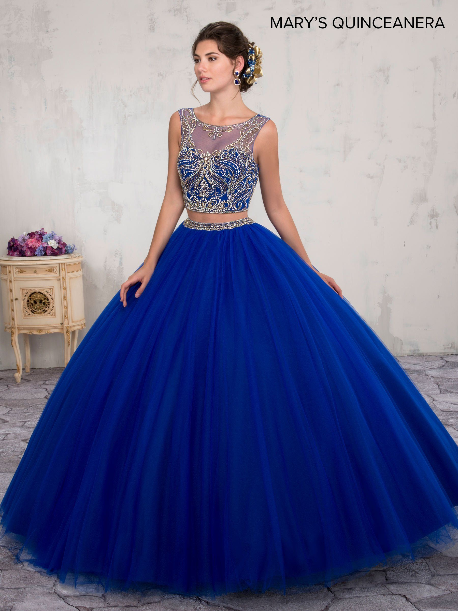 67fe75f183 Two-Piece Crop Top Quinceanera Dress by Mary s Bridal M4Q2005 in ...