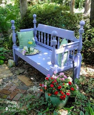 Rescued a headboard/footboard from someones trash and this is my ...