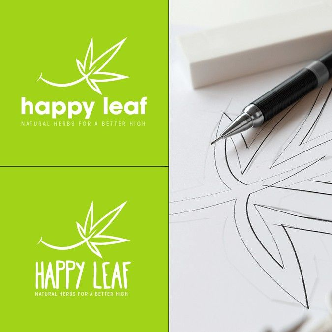 Logo design for a cannabis company - Minimalistic, Fun, Symmetrical by DeusKaos