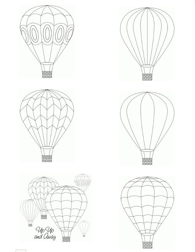 3d Hot Air Balloon Craft Template Found On Birdscards Com Air