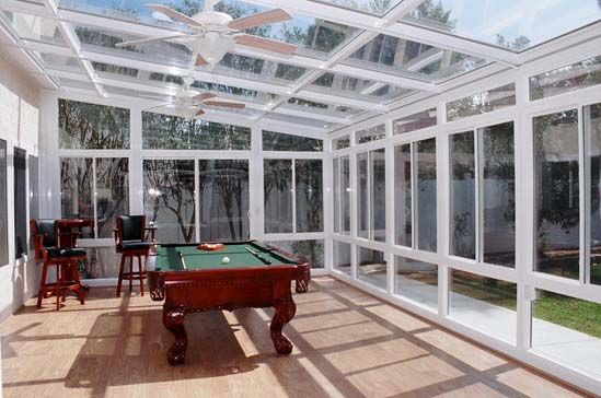 Sunroom Remodeling Ideas With Pool Table