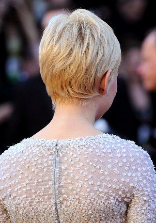 Oscar Gowns Michelle Williams Hair Short Hair Styles Short Hair Back