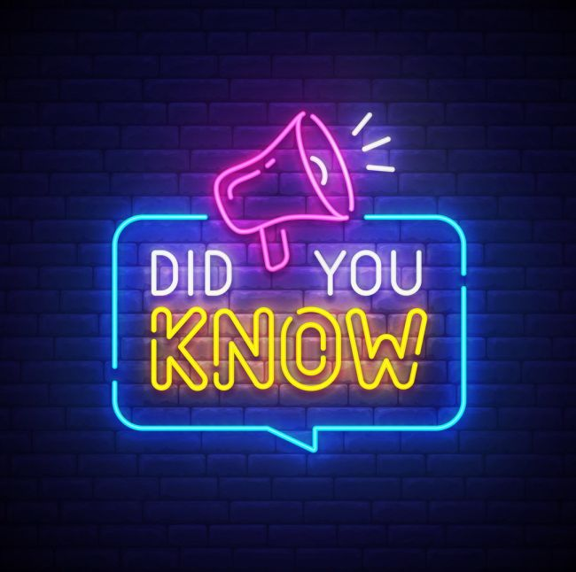 Did You Know Led Neon Sign Neon Signs Neon Signs Quotes Neon