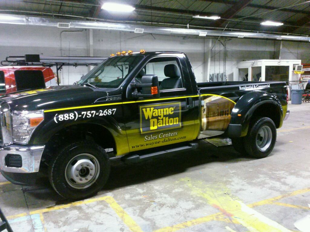 Another ford f350 super duty with custom designed wrap for wayne dalton tx