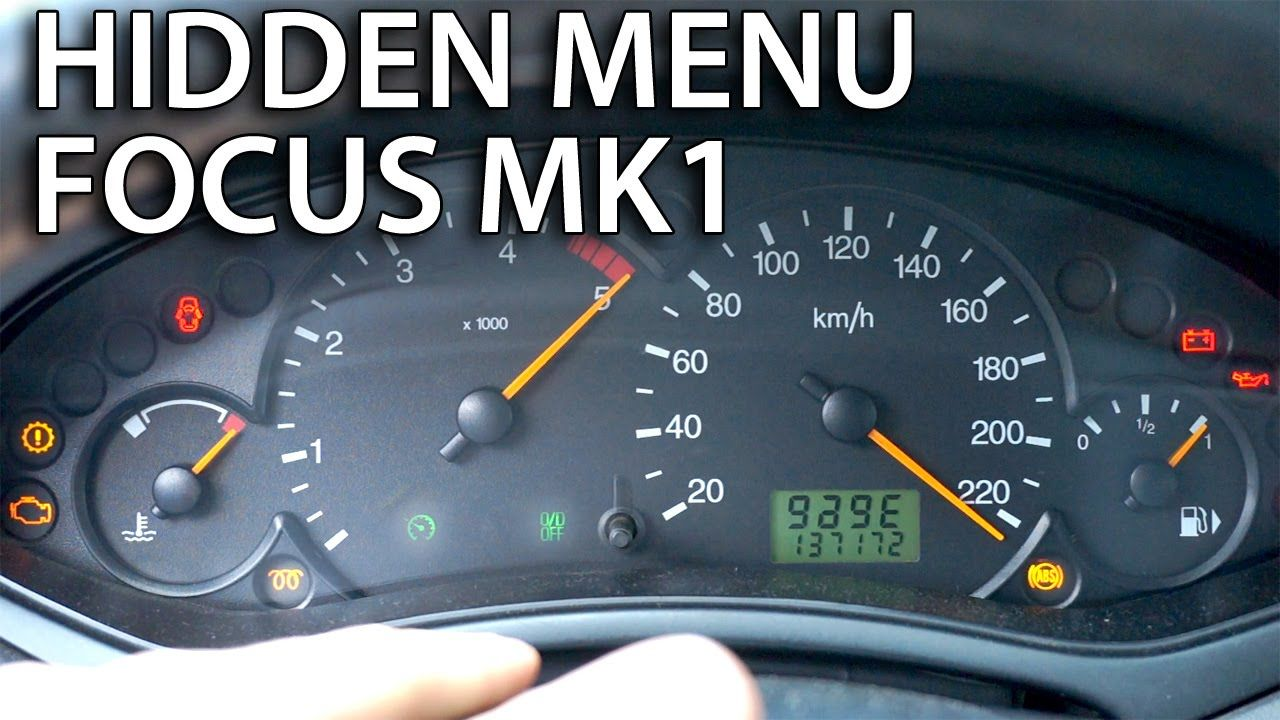 How to access hidden menu Ford Focus MK1 (instrument cluster test
