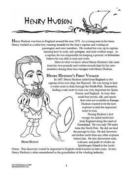 Henry Hudson New World Explorer Lesson | 4th grade social ...