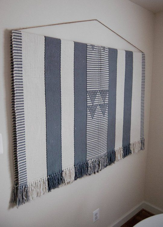 Hang Blanket On Wall how to hang a large, heavy rug on the wall — apartment therapy