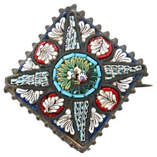 Antique Italian Micromosaic Brooch
