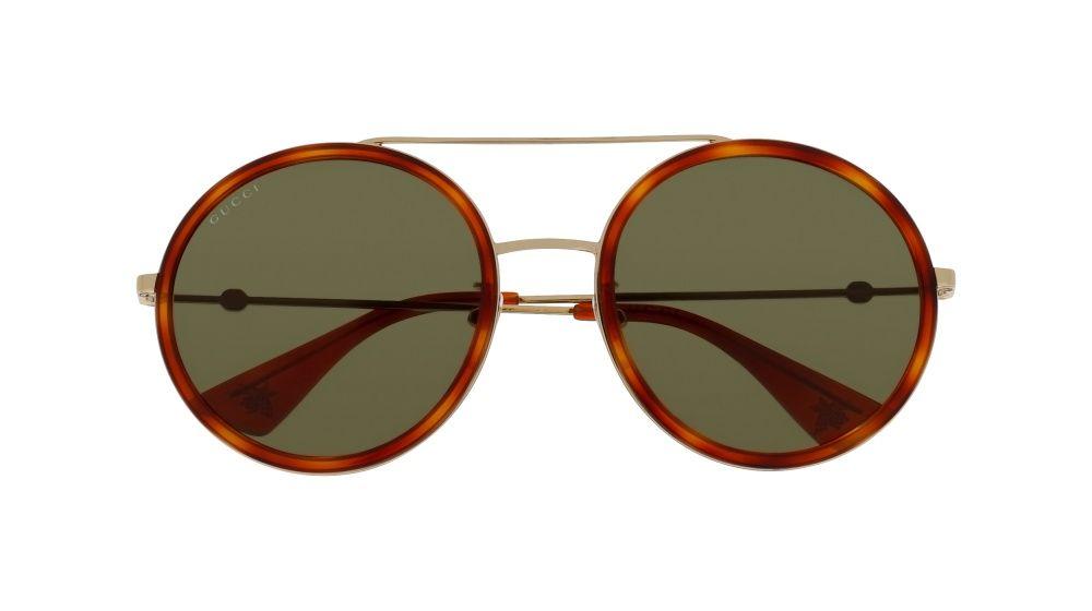 58779f37eb3e5 Gucci GG0061S 002 Gold Round Sunglasses
