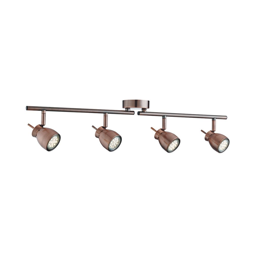 Searchlight 8814CU Jupiter 4 Light LED Copper Spotlight | home decor ...