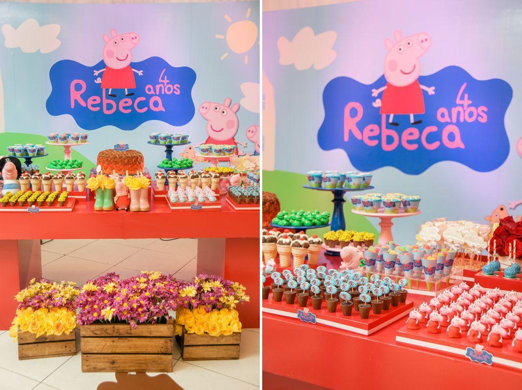 Painel Festa Aniversário Em Tecido Peppa Pig 129 - 3x2m