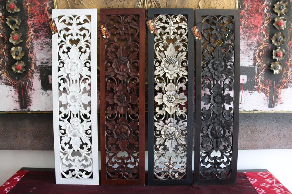 NEW Balinese Carved MDF/Wood Wall Panels - Bali Wall Art - 4 Colours ...
