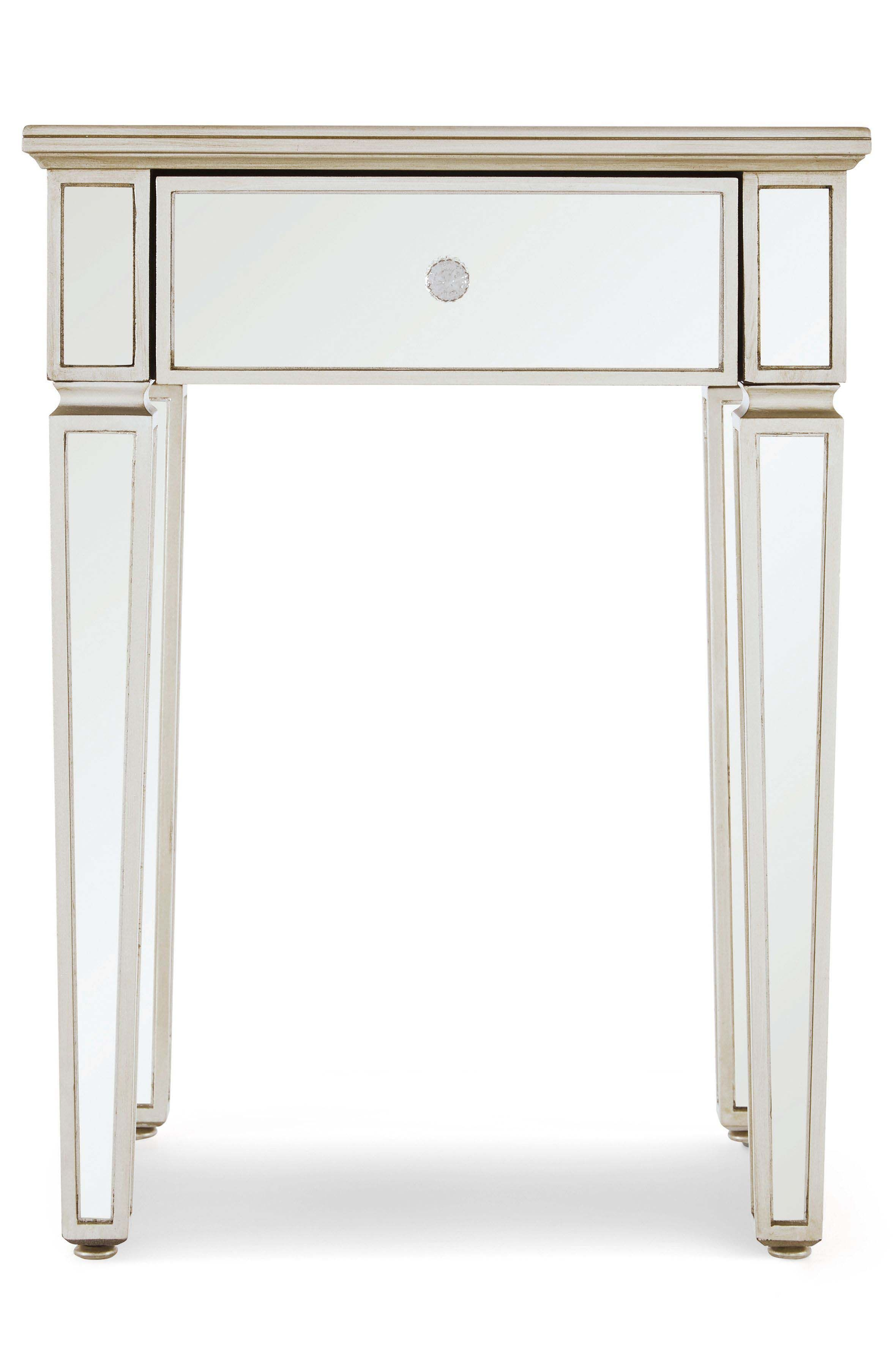 Best Next Fleur Small Bedside Table Silver Small Bedside 400 x 300