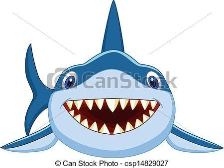 Vector Cute Shark Cartoon Stock Illustration Royalty Free Illustrations Stock Clip Art Icon Stock Clipart Icon Cute Shark Shark Drawing Cartoon Posters
