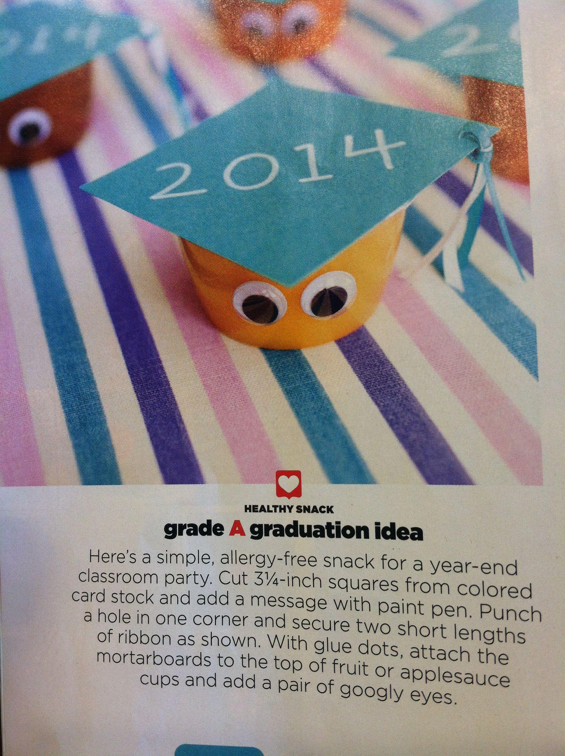Graduation Applesauce Cups Preschool Party Met Afbeeldingen