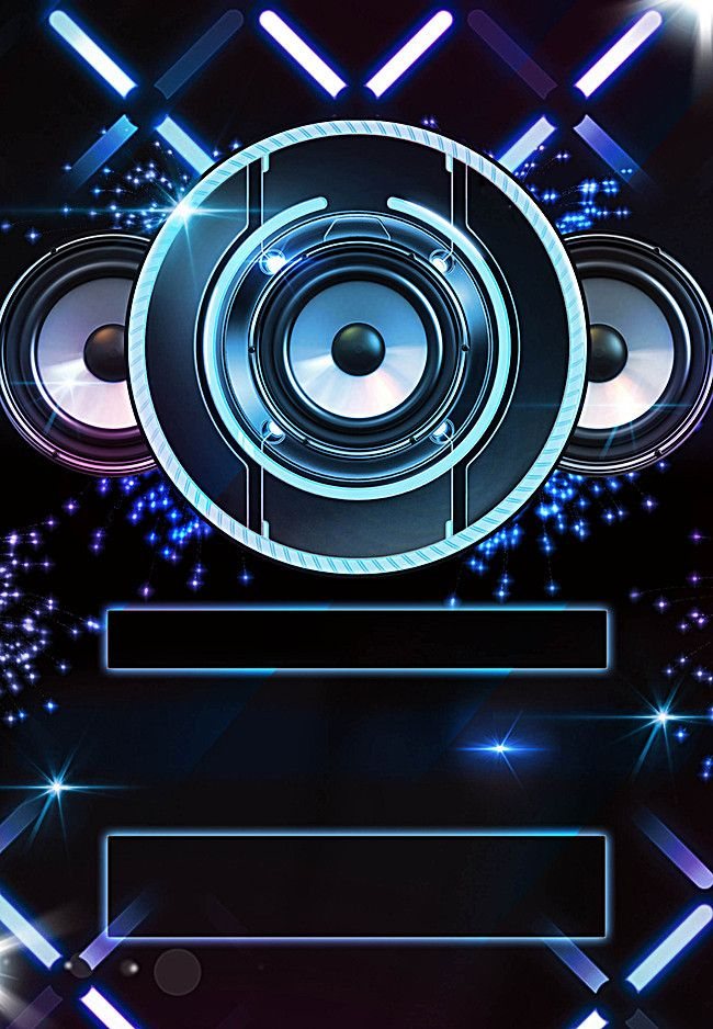 Atmospheric gradient music events party poster party background