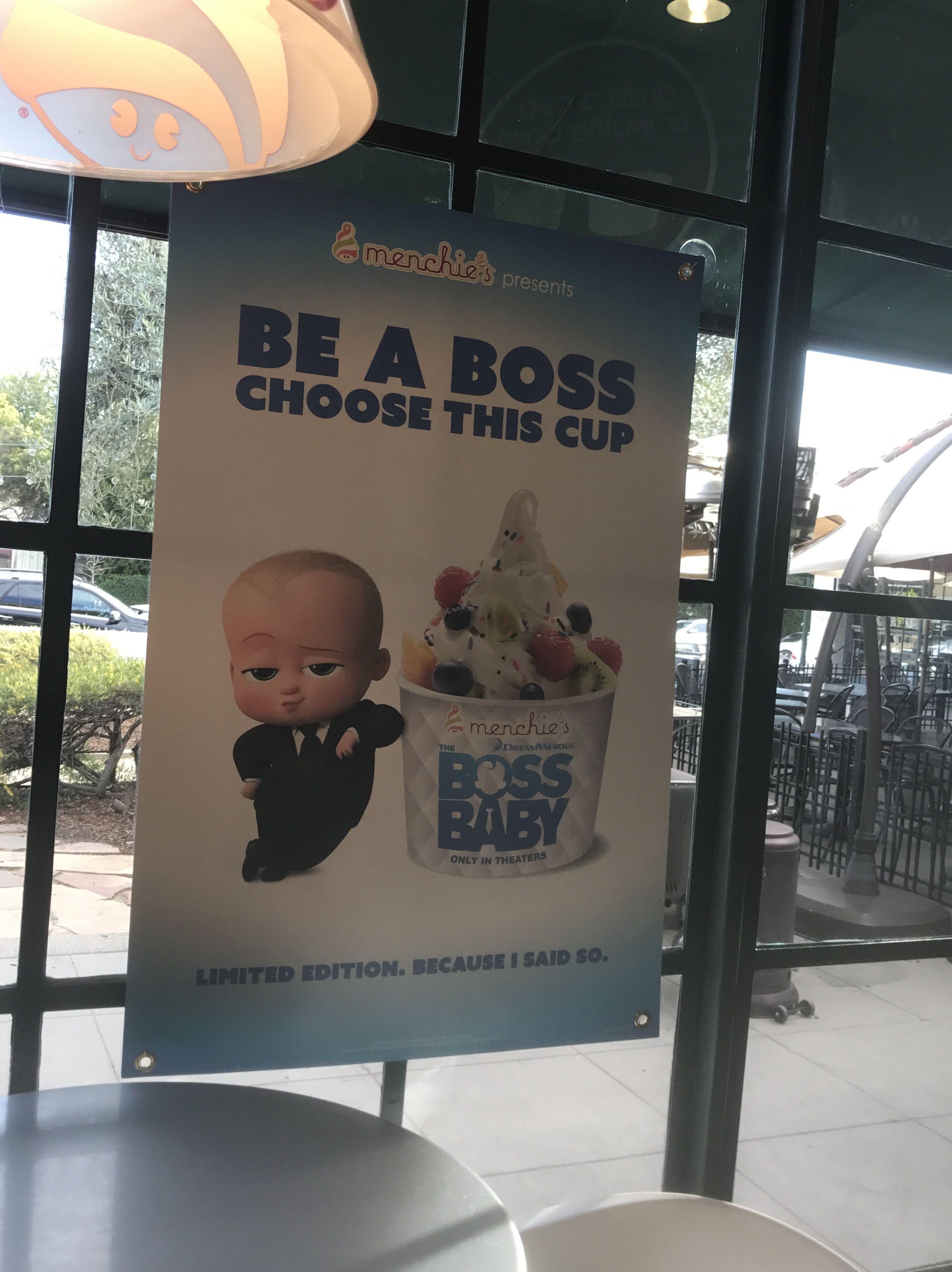 baby boss cups at menchie s frozen yogurt in the news baby boss cups at menchie s 2017
