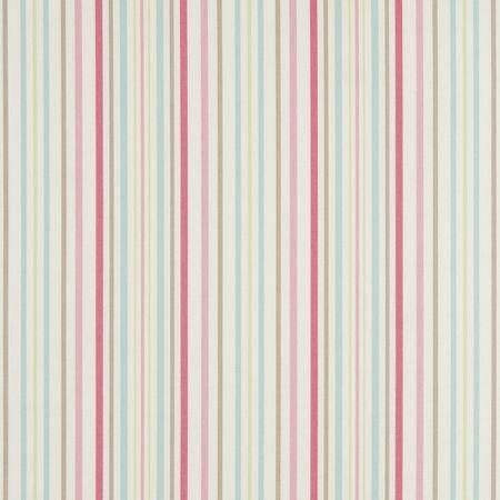 Clarke and Clarke Deckchair Stripe Sage Designer Curtain Upholstery Fabric