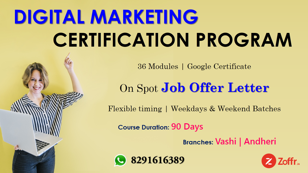 Zoffr.in present Digital Marketing Course by Industry