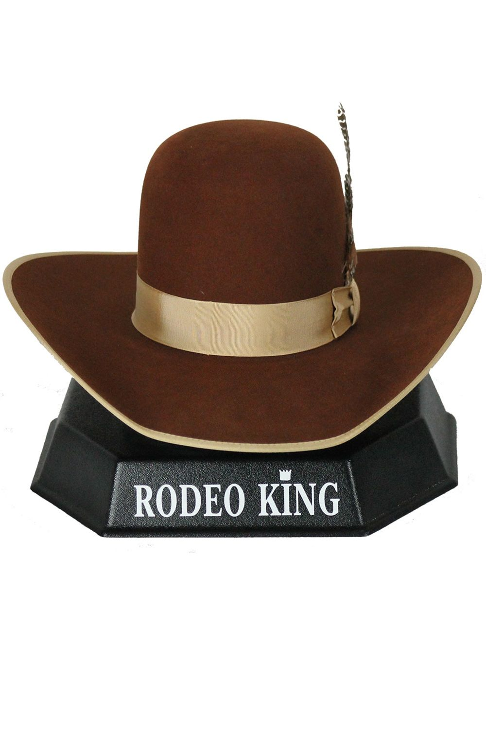 18559ea46c036 Rodeo King 7X Open Crown Rust Hat
