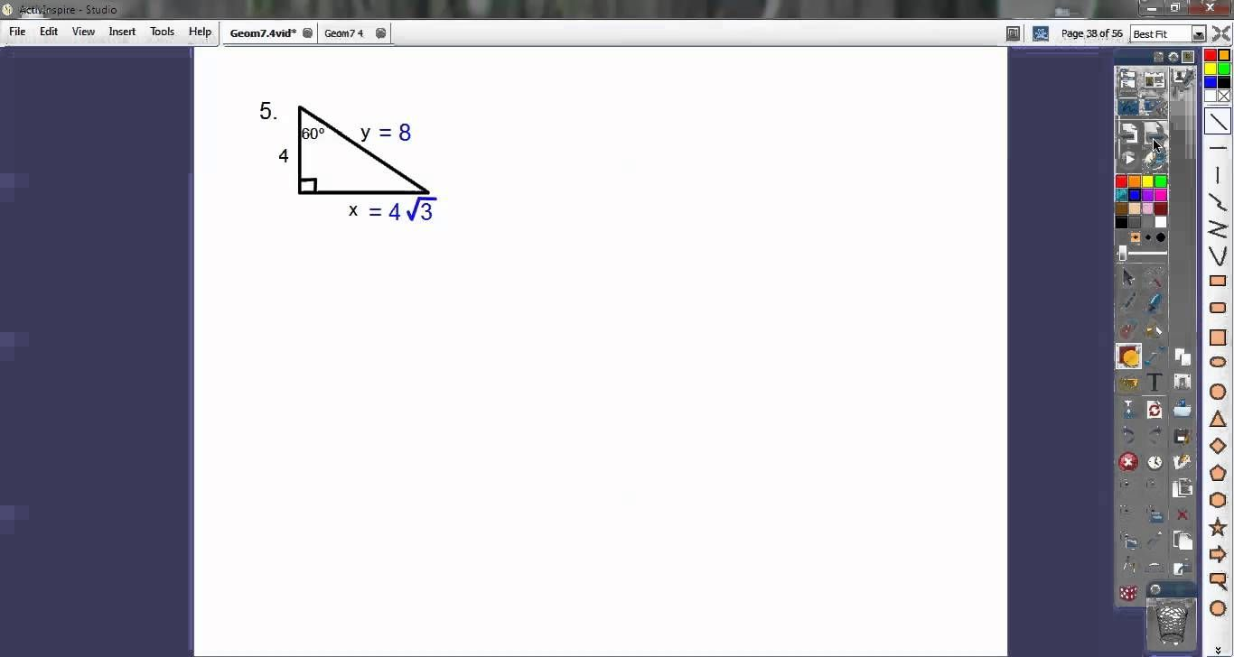 Special Right Triangles Section 7 4 Did Not Include Check All His Videos Right Triangle Special Right Triangle Pythagorean Theorem [ 728 x 1366 Pixel ]