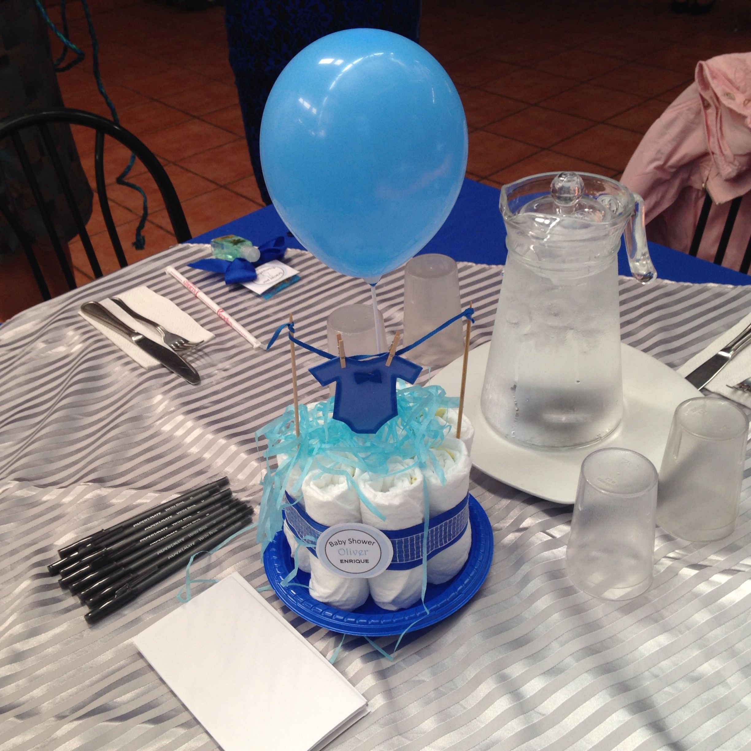 Little man baby shower centerpiece !