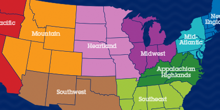superflash united states app has a study map with flashcards of all 50 states divided