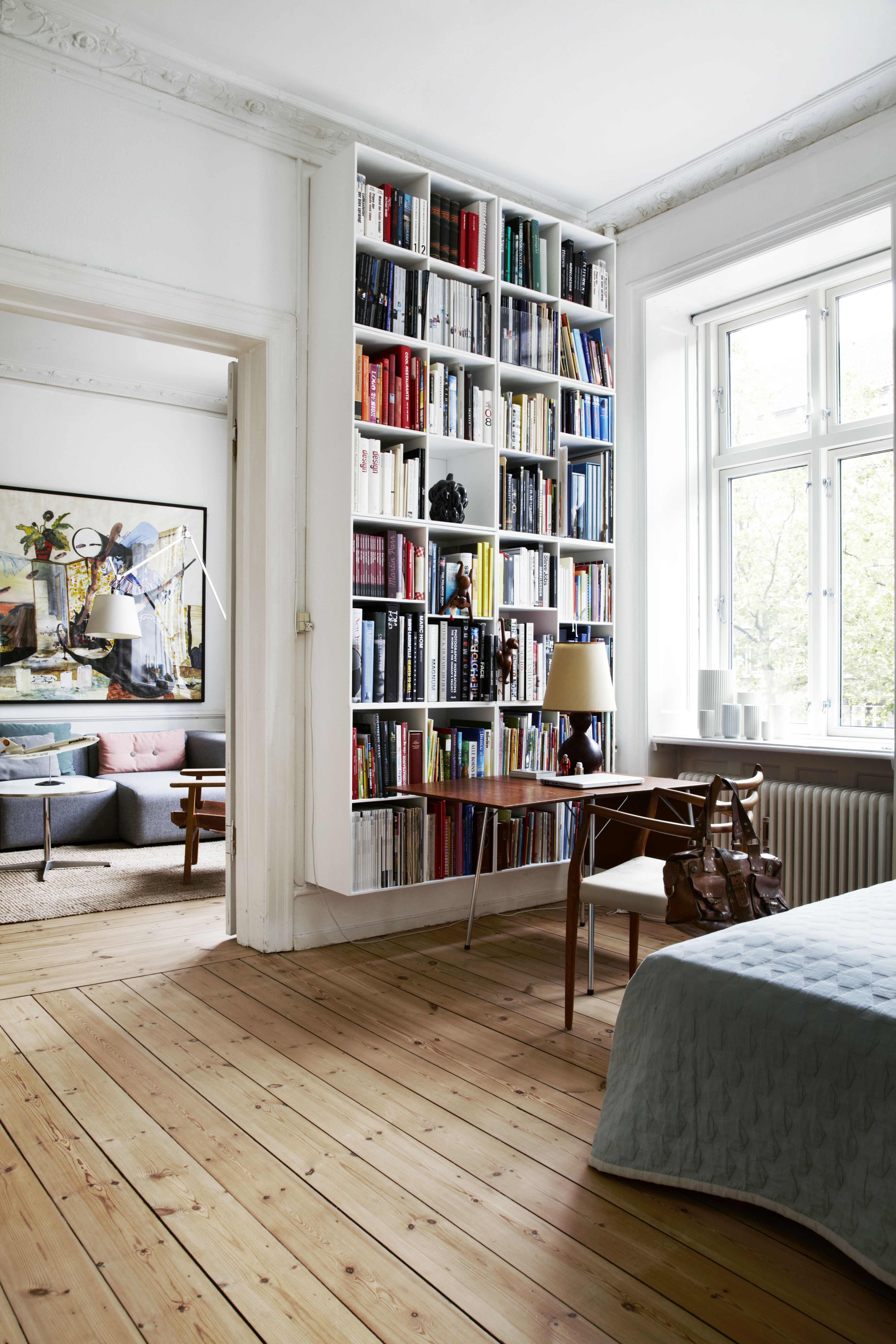 A Scandinavian Design Collector S Playful Classic Contemporary Home In Copenhagen In 2020 Bookcase Design Home Decor Inspiration Home Decor