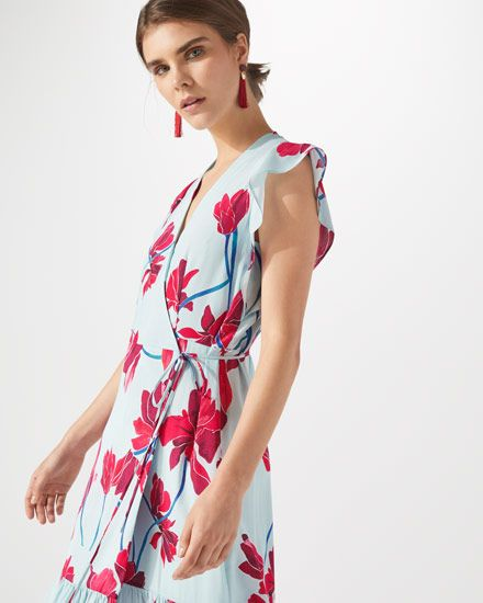 Discount Affordable Silk Cyclamen Print Wrap Dress Jigsaw Buy Cheap 2018 New Cheap Outlet Store Buy Cheap Fashion Style Outlet Discount Sale EX1t1