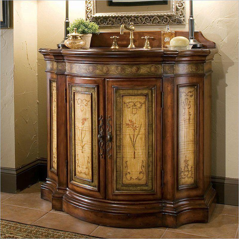 40 Inch Handcrafted Glendale Bathroom Vanity Brown 1322 Pleasing 40 Inch Bathroom Vanity Design Ideas