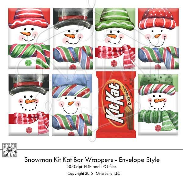 Printable Snowman Candy Wrappers for Kit Kat Bars Makes the cutest