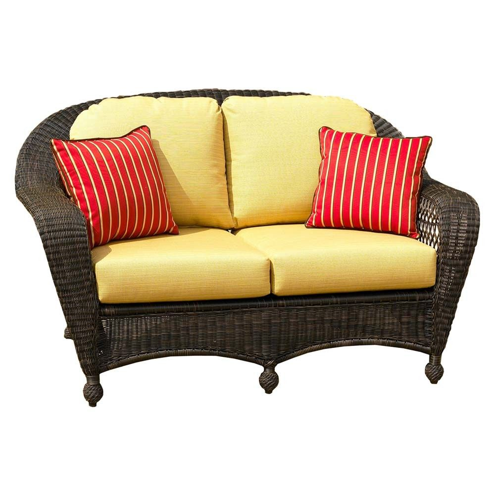 Cool Wicker Loveseat Cushions Good 36 In Sofa Table Ideas With