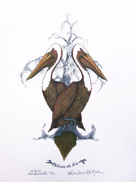 Daniel Rhodes Miss Craw De Lis And Friends Louisiana Art La Art Bird Art