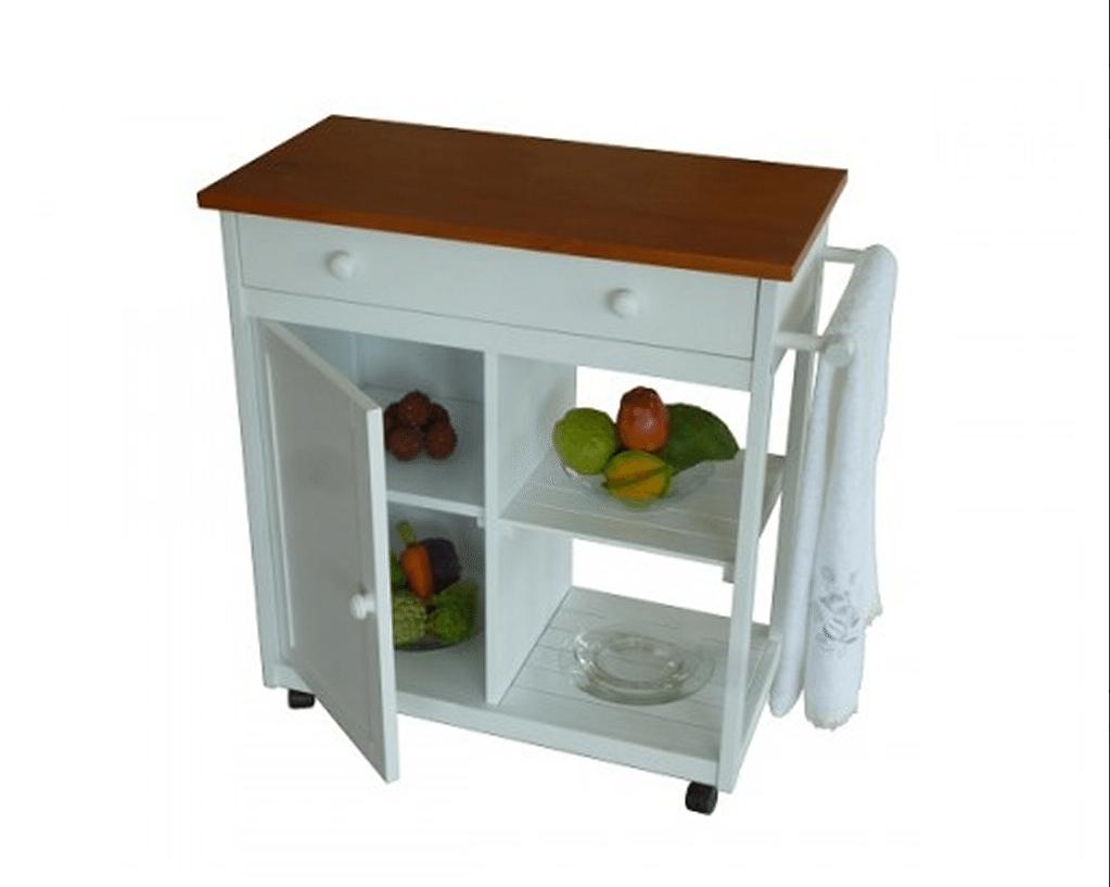 Ideas Para Muebles Auxiliares De Cocina ~ Utiliza Carritos Auxiliares En  Espacios Pequeños