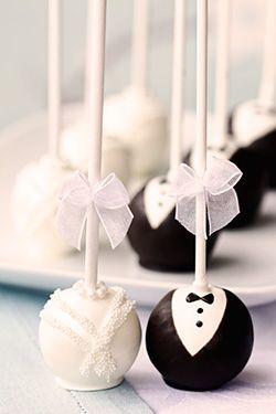 Bride And Groom Wedding Cake Pops Recipe Engagement Party Cake Wedding Cake Pops Cool Wedding Cakes