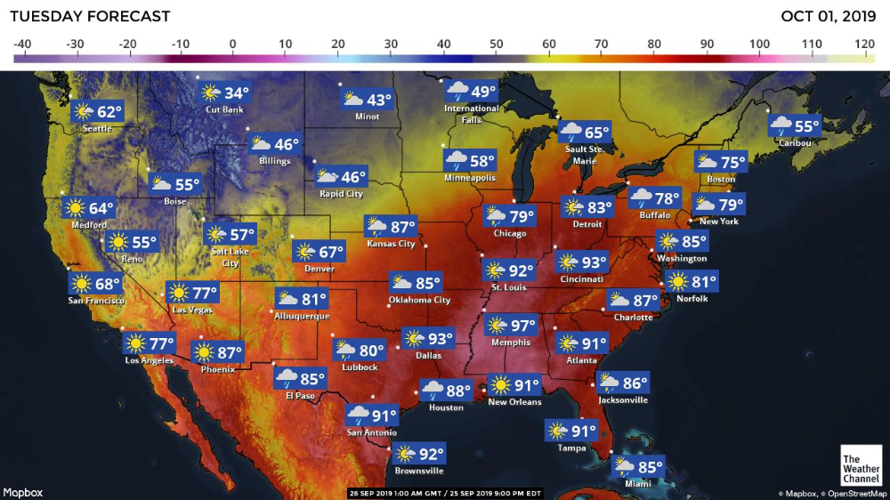 The Weather Channel Maps Reno city, The