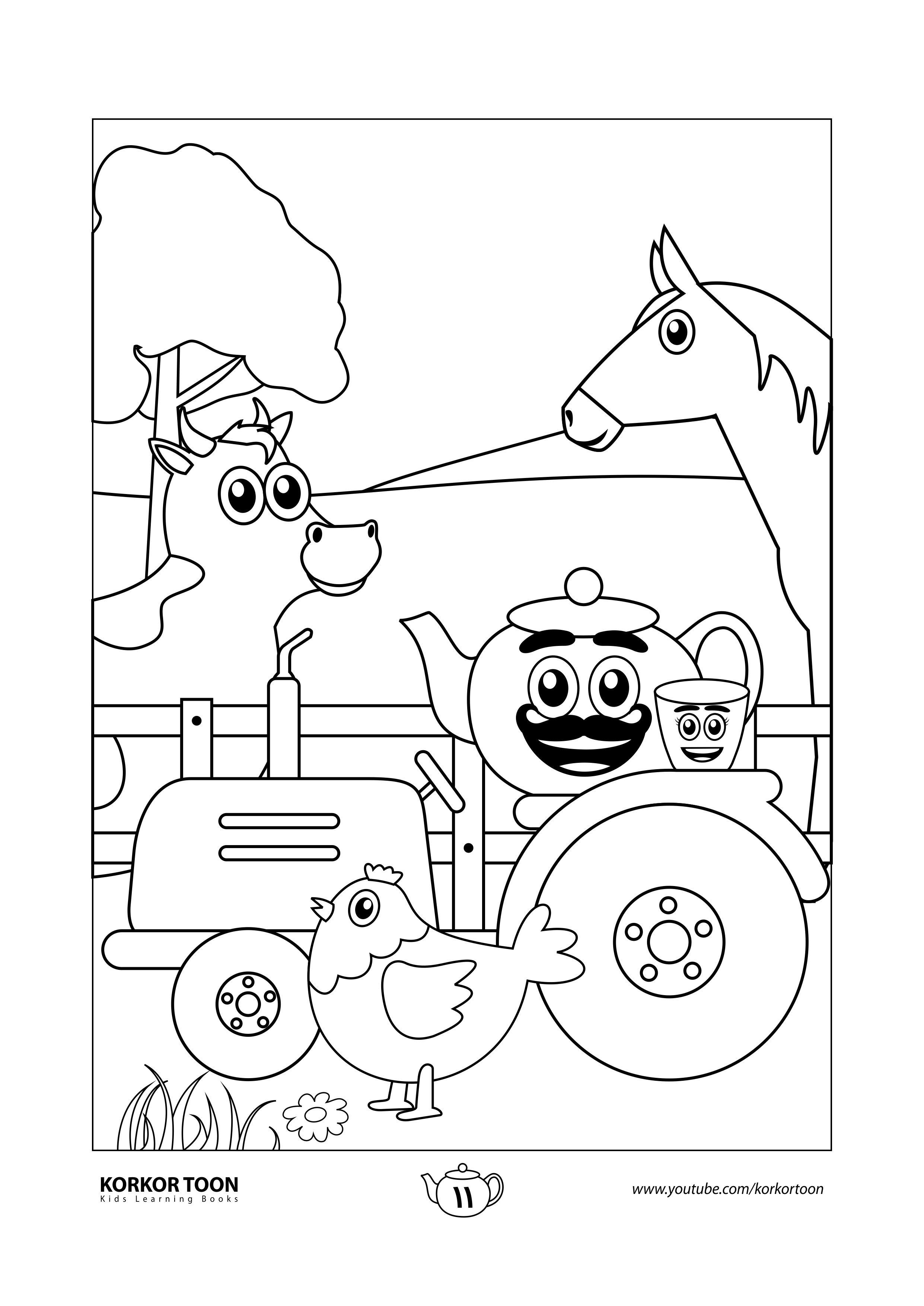 كتاب تلوين حيوانات المزرعة صفحة 11 Farm Coloring Pages Animal Coloring Pages Animal Coloring Books