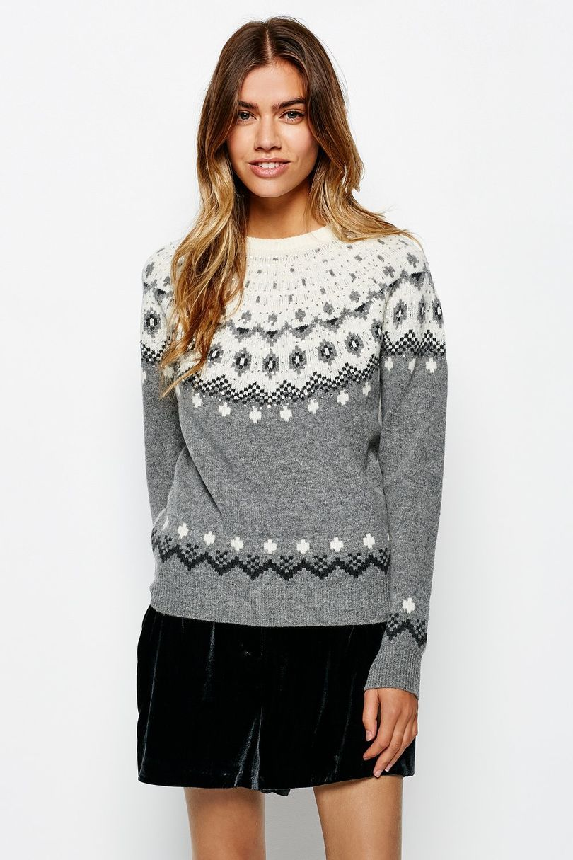 SANDHILLS SEQUIN FAIRISLE CREW | JackWills UK | My Style ...