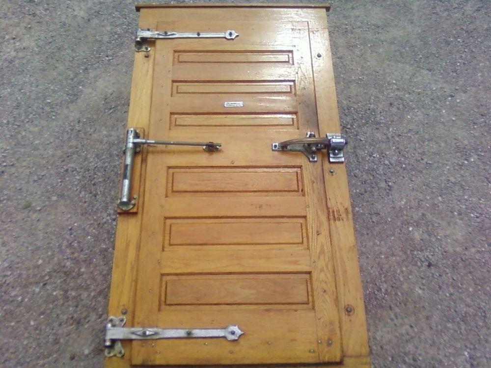 Vintage Jamison Oak Freezer Door/ Walk In Cooler Door Right Hand & Vintage Jamison Oak Freezer Door/ Walk In Cooler Door Right Hand ...